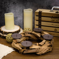 Wooden Candle Holders | Rustic Candle Holders