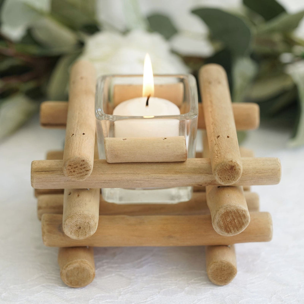 Home Decor Rustic Wooden Candle Holder Stand Tea Light Container Home Party Table Decor Home Furniture Diy Lugecook Com Br