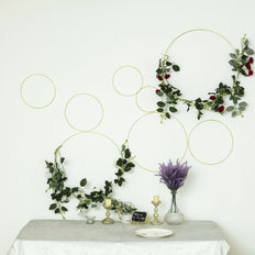 Set of 3 - Gold Metal Hoop Wreath - Floral Hoop Set - Dreamcatcher Hoops