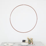 "32"" Rose Gold Heavy Duty Metal Floral Hoop Wreath Hanging Rings"