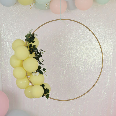 Metal Hoop Wreath | Floral Hanging Rings | Metal hoops