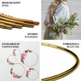 "24"" Rose Gold Heavy Duty Metal Hoop Wreath 