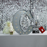 2 FT | Vintage Metal Marquee Letter Lights Cordless With 16 Warm White LED - C