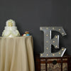 2 FT | Vintage Metal Marquee Letter Lights Cordless With 16 Warm White LED - E
