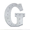 2 FT | Vintage Metal Marquee Letter Lights Cordless With 16 Warm White LED - G