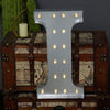 2 FT | Vintage Metal Marquee Letter Lights Cordless With 16 Warm White LED - I