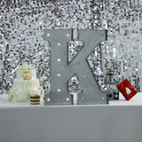 2 FT | Vintage Metal Marquee Letter Lights Cordless With 16 Warm White LED - K