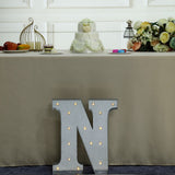 2 FT | Vintage Metal Marquee Letter Lights Cordless With 16 Warm White LED - N