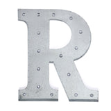 2 FT | Vintage Metal Marquee Letter Lights Cordless With 16 Warm White LED - R