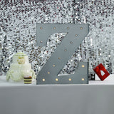 2 FT | Vintage Metal Marquee Letter Lights Cordless With 16 Warm White LED - Z