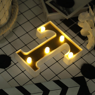 "6"" Gold 3D Marquee Letters 