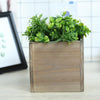"2 Pack | 6"" Natural Square Wood Planter Box Set With Removable Plastic Liners"