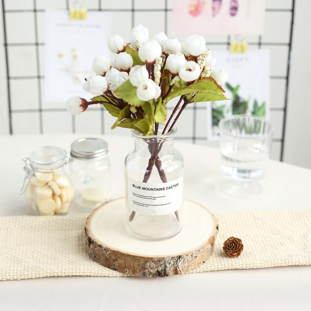 NEW Natural Wood Round Centrepieces 25 Pack