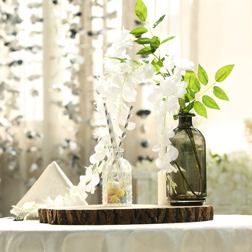 """Natural Round Poplar 14-18/"""" wide Thick Wood Slices Wedding Party Centerpieces"""