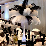 "12 Pack | 13""-15"" Black Natural Plume Ostrich Feathers Centerpiece"