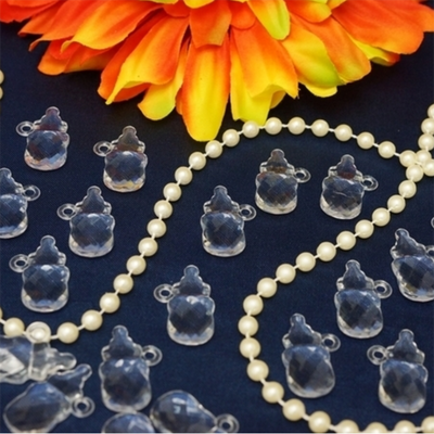 300 Pcs Feeding Bottle Acrylic Crystal Garland