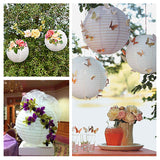 "12 Pack | 20"" Cream Round Chinese Paper Lanterns"