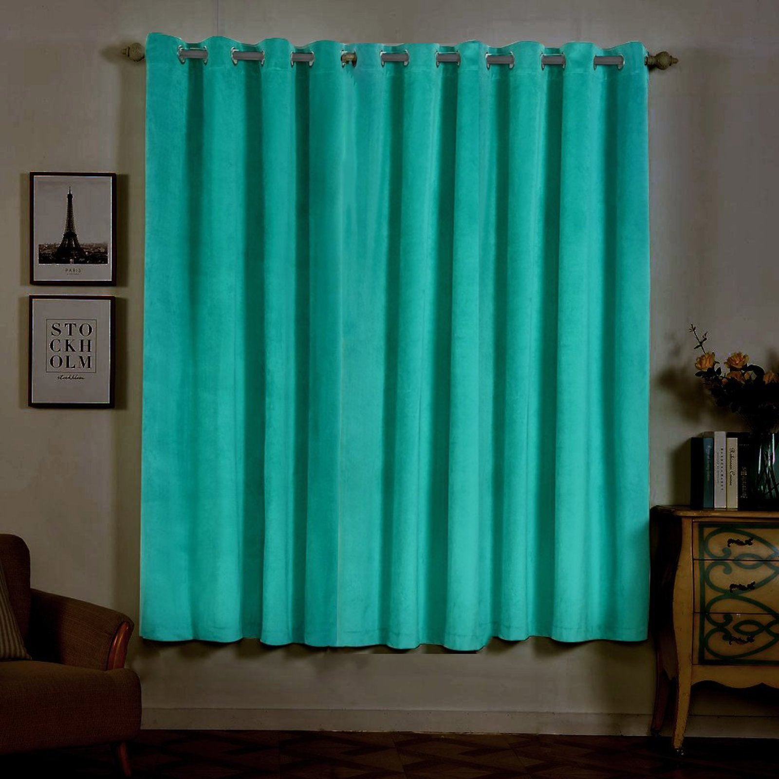 52 X 84 Blackout Curtains Polyester Velvet Curtains Tableclothsfactory