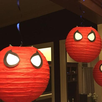 "12 Pack | 24"" Red Round Chinese Paper Lanterns"