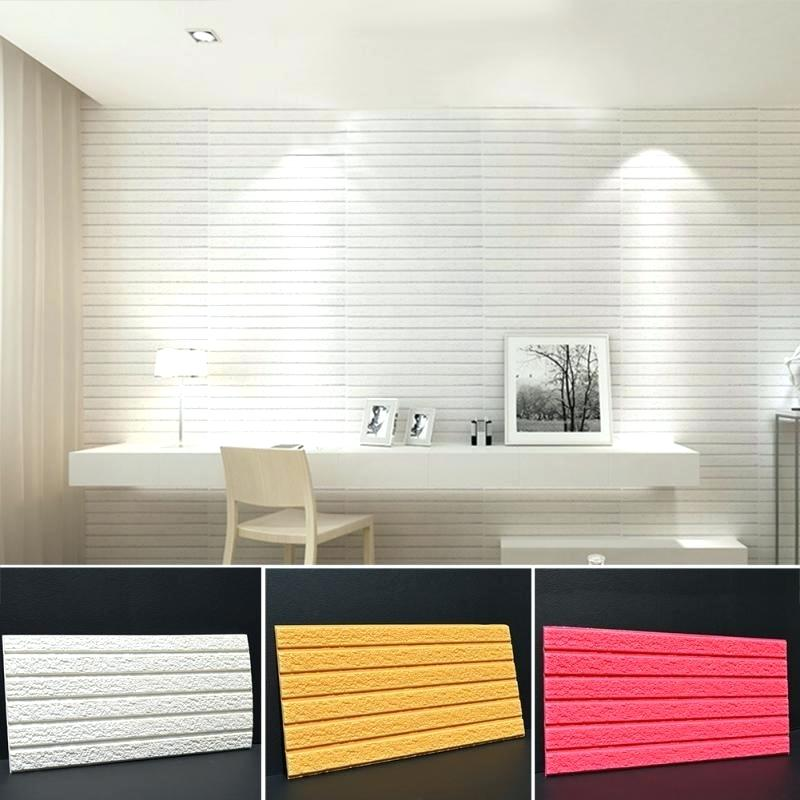 10 Pack | 58 Sq.Ft White Foam Brick Wall Tiles Peel and Stick 3D ...