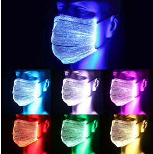 LED Face Mask, LED Light Up Face Mask, Rave Mask