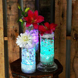 4 Pack White Waterproof Submersible LED Vase Lights With IR Remote