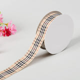 "25 Yards 5/8"" Lavender/White Buffalo Plaid Ribbon"