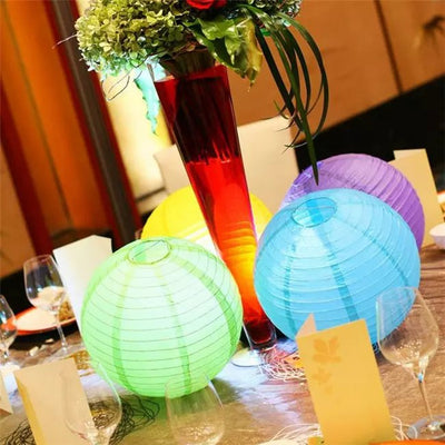 "12 Pack | 12"" Yellow Round Chinese Paper Lantern"