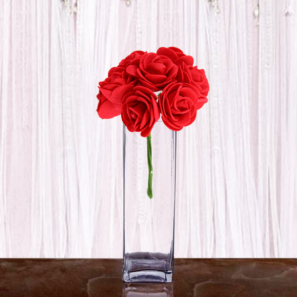 "12 Pack | 10"" Heavy Duty Square Cylinder Vase"