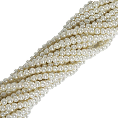 9 YARD 8mm Faux Pearl Bead Strands Garland Wedding Party Table Top Decoration - Ivory - 10 Strands