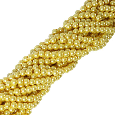 9 YARD 8mm Faux Pearl Bead Strands Garland Wedding Party Table Top Decoration - Yellow - 10 Strands