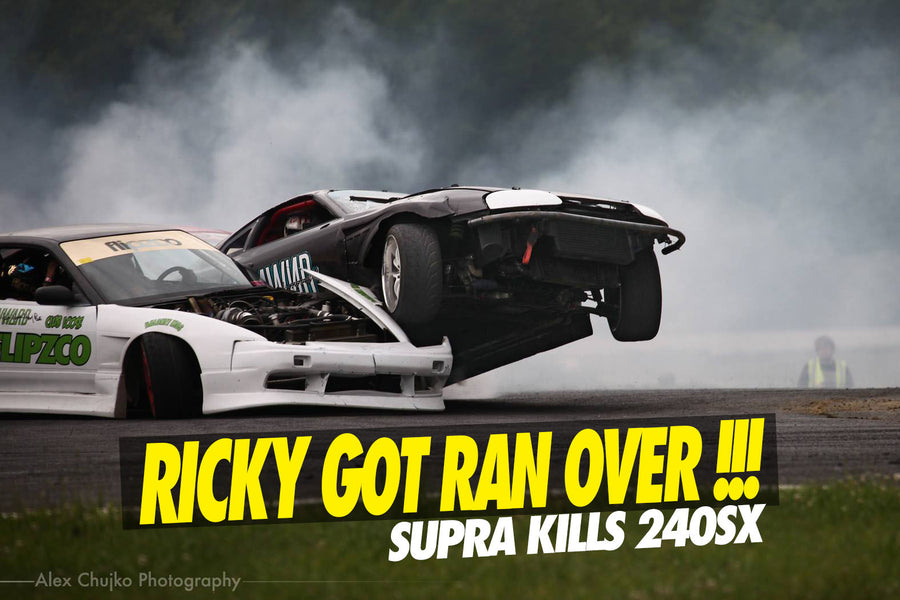 240SX RAN OVER BY A WILD SUPRA !!!