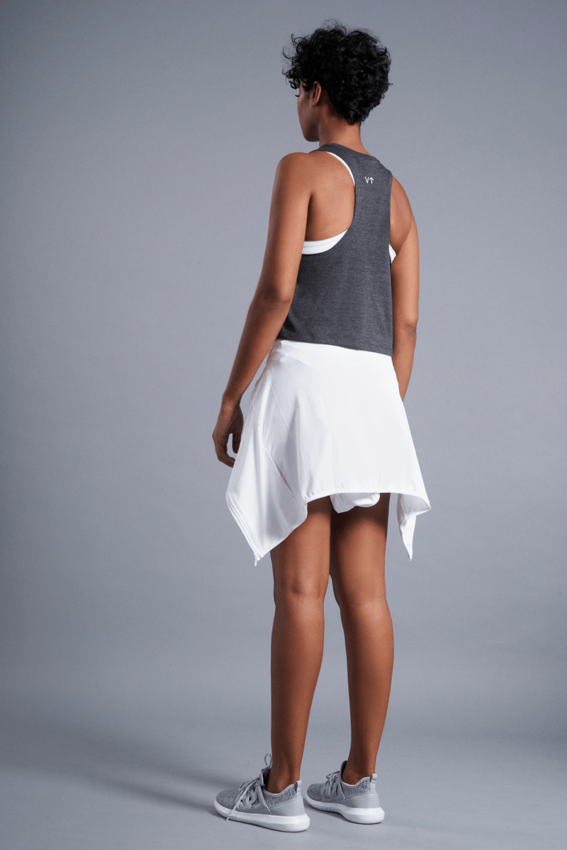 Vibrate Higher Racerback Tank - Vibrate Higher; Charcoal Black