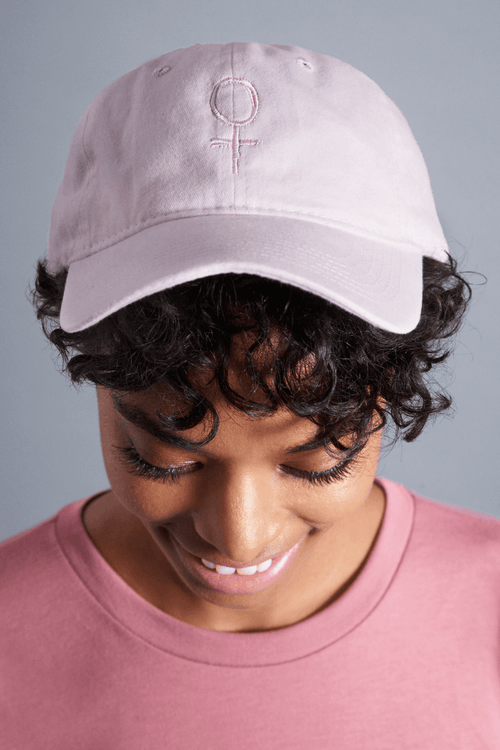 Feminist Dad Hat - Vibrate Higher; Pink