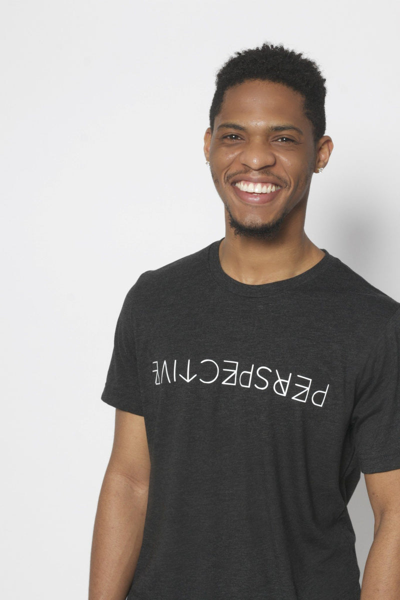 Perspective T-Shirt - Vibrate Higher; charcoal black