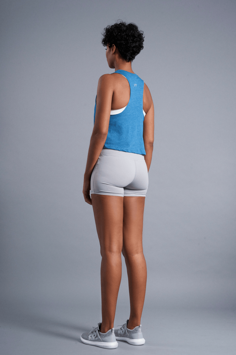 Vibrate Higher Racerback Tank - Vibrate Higher; teal