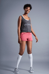 Perspective Flowy Tank - Vibrate Higher; athletic heather gray