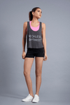 Reckless Optimist Flowy Tank - Vibrate Higher; gray