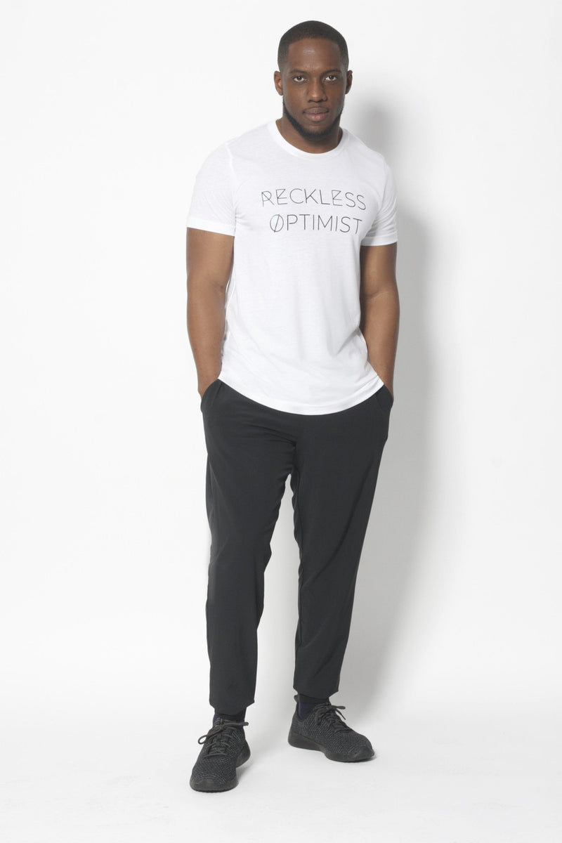 Reckless Optimist T-Shirt - Vibrate Higher; white