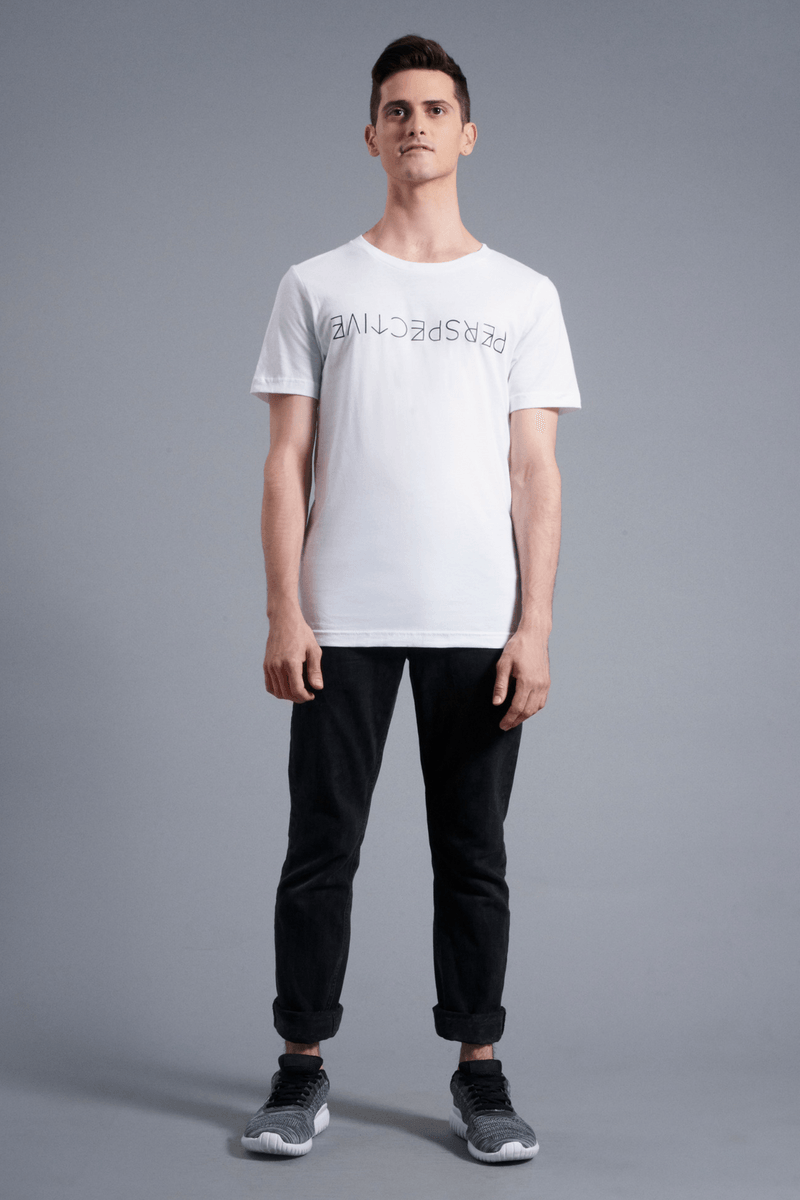 Perspective T-Shirt - Vibrate Higher; white