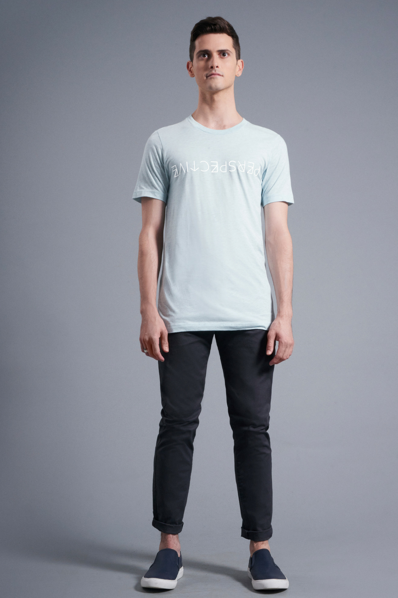 Perspective T-Shirt - Vibrate Higher; Ice Blue
