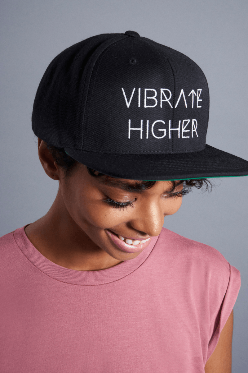 Vibrate Higher Fitted Hat - Vibrate Higher; black