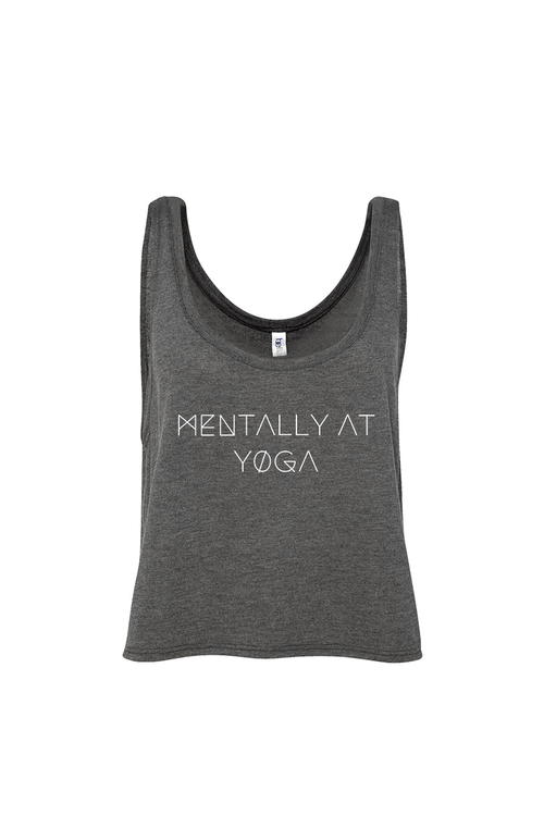Mentally at Yoga Flowy Tank - Vibrate Higher; gray