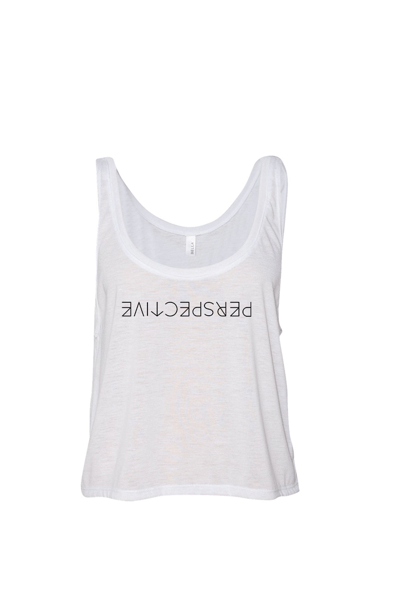 Perspective Flowy Tank - Vibrate Higher; white