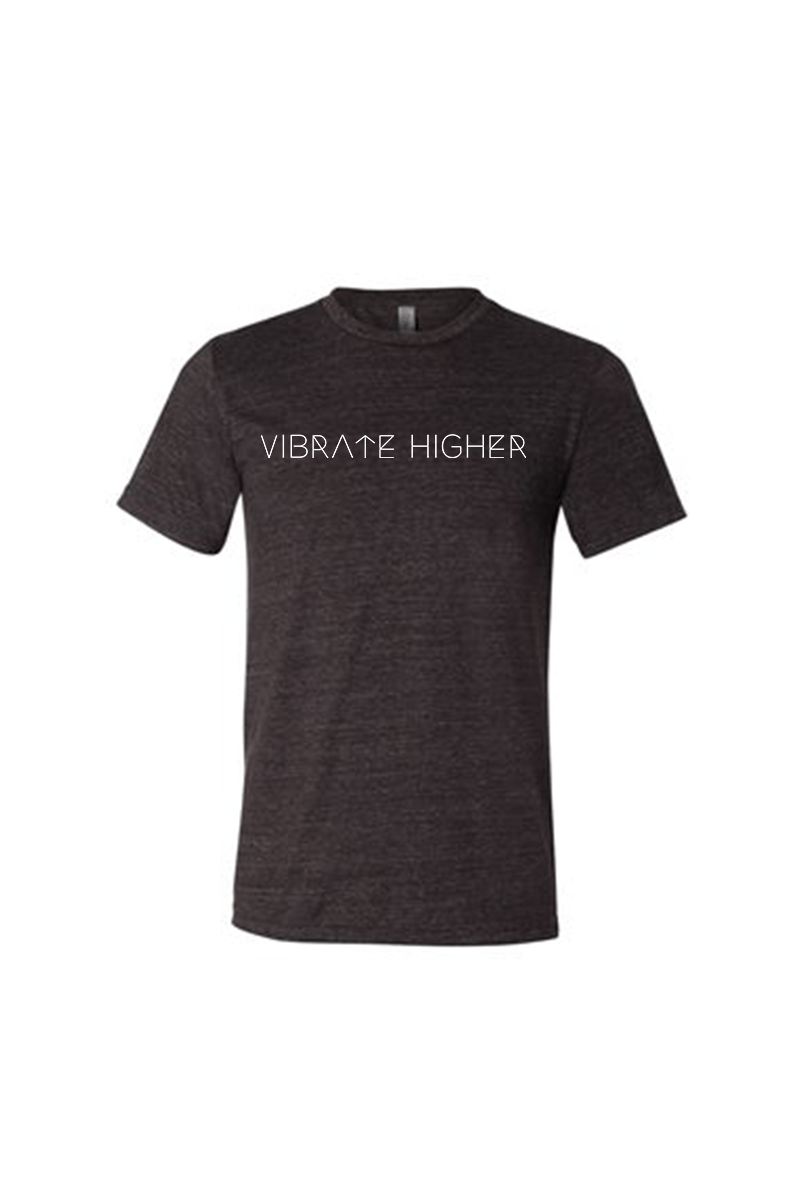 Vibrate Higher T-Shirt - Vibrate Higher; charcoal black