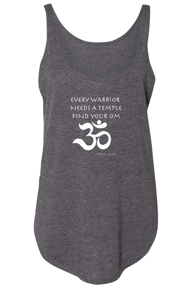 Every Warrior Needs A Temple - Vibrate Higher; charcoal