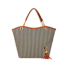 Stripe  Canvas Beach Bag