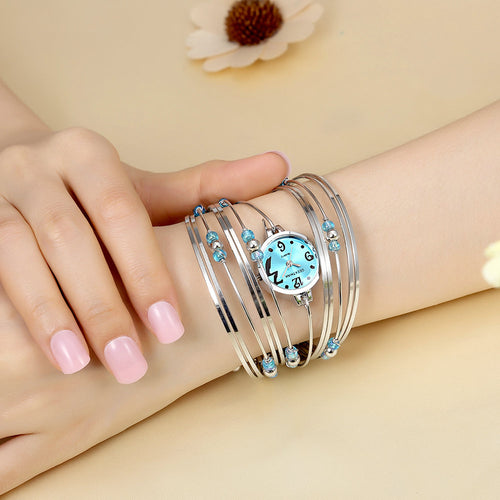 Womens Luxury Quartz Movement Bracelet Watch