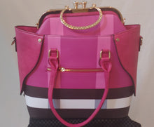 Luxury Series Pink Plaid-Bag in Bag