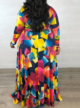 Deanna -Abstract Maxi Dress